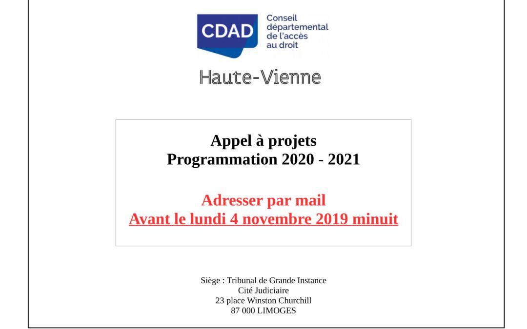 Appel à Projets 2020-2021 – Animation de dispositifs d'Accès au Droit