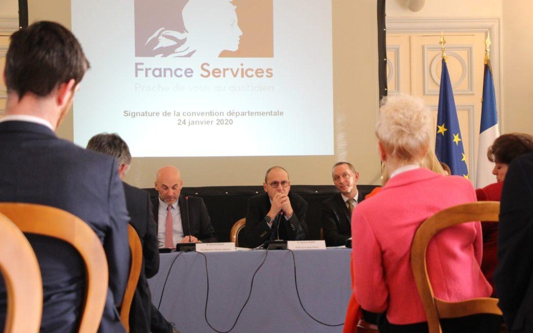 Signature de la convention des Espaces France Services en Haute-Vienne.