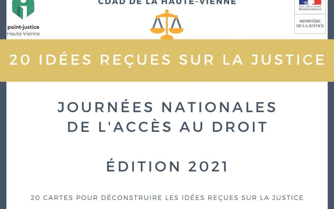 Édition 2021 de la Journée Nationale de l'Accès au Droit.